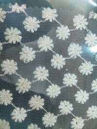 Cotton embroidery net fabric