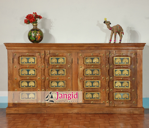 Solid Mango Wooden Brass fitted Sideboard