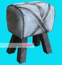 Indian Upholstered Jeans Fabric Stool