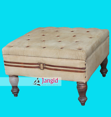 Wooden Canvas Fabricated Ottoman India