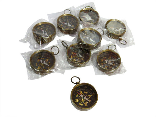 Key Chain Compass Set Of 10