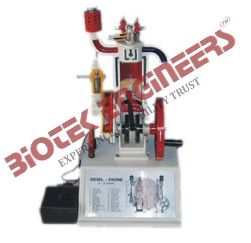 Sectional Working Model of 4 Stroke Diesel Engine