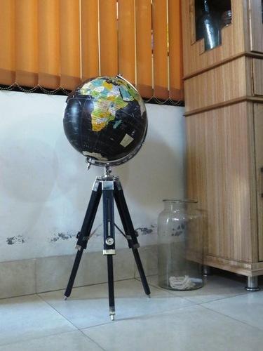 French Desktop Globe With Tripod Stand