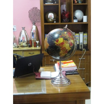 Discovery Political Globe With Aluminum Stand