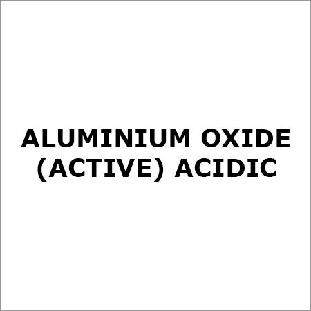 ALUMINIUM OXIDE (active) ACIDIC