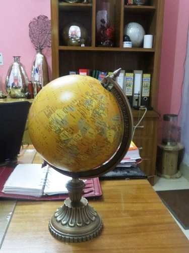 Vintage Decorative Table Globe With Stand