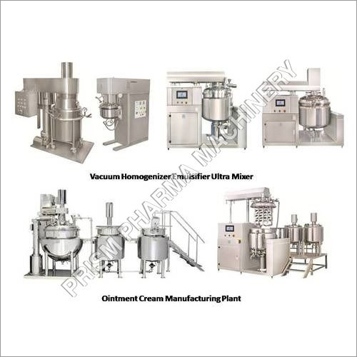 Ointment Cream Manufacturing Plant