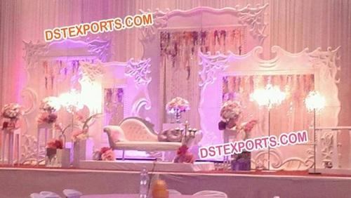 English Wedding Stage Backdrop Decoration