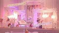 English Wedding Stage Backdrop Decoration