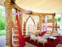 Wedding Golden Open Mandap