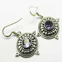 Amethyst Gemstone Earring