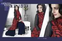 Red and Black Salwar Kameez