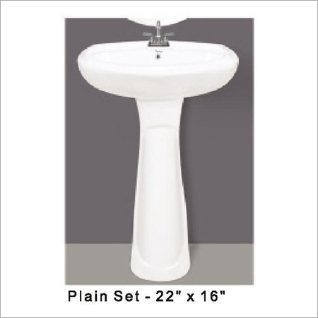 Plain Pedestal Wash Basin 22