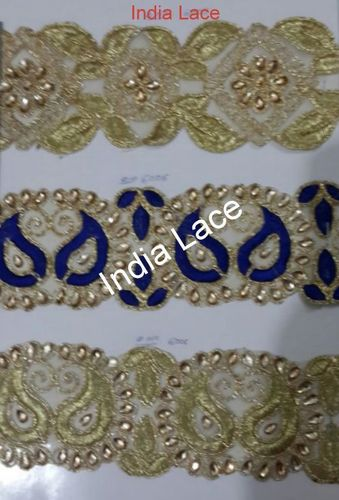 Stone Work Embroidery Lace