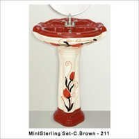 Printed Pedstal Wash Basin