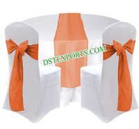 WEDDING CHAIR COVER WITH MATCHING OVERLAYS
