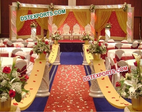 WEDDING CRYSTAL DECOR STAGE SET