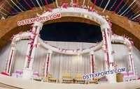 Wedding Six Pillar Wooden Mandap
