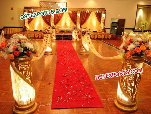 HINDU WEDDING GOLD CRYSTAL STAGE