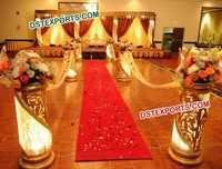 HINDU WEDDING GOLD CRYSTAL STAGE