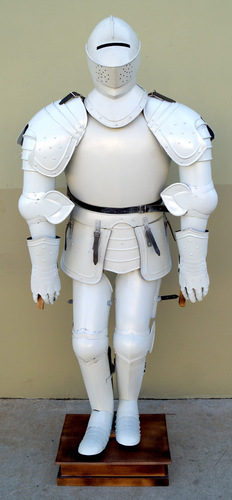 White Full Armor Suit