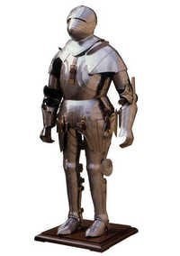 Solid Steel Gothic Full Armor Suit