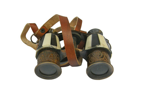 Antique Vintage Nautical Brass Mini Binocular