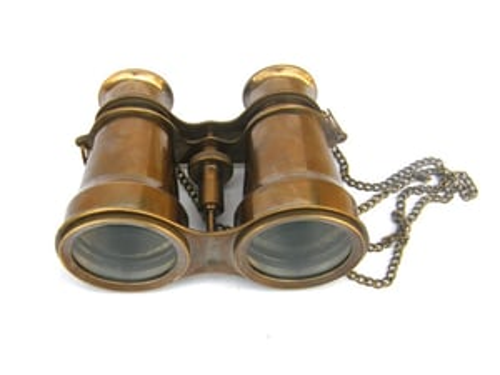 Pearl Brass Binocular With Chain