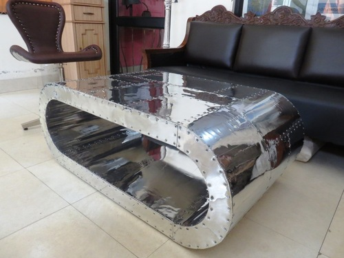 Vintage Aluminum Coffee & Cocktail Table
