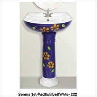 Colored Pedestal Basin