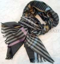 Silk Wool check Men scarf
