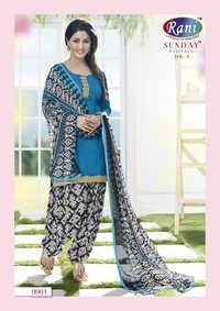 Heena Khan Blue Designer Patiyala Suit