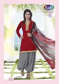 Heena Khan Red Designer Patiyala Suit