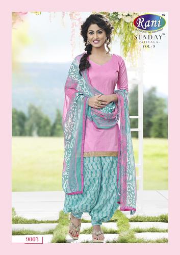 Heena Khan Pinky Sky Blue Designer Patiyala Suit Heena Khan Pinky