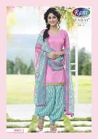 Heena Khan Pinky Sky Blue Designer Patiyala Suit