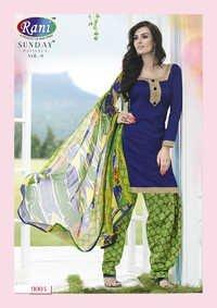 Heena Khan Blue And Parotty Designer Patiyala Suit