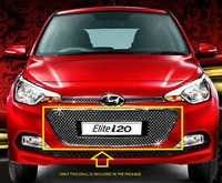 I 20 Elite Front Chrome Grill 3 Pcs