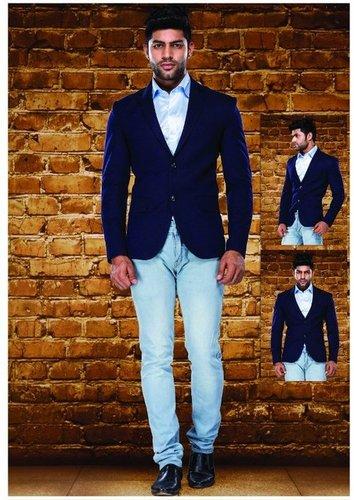 Men Tweed Blazer