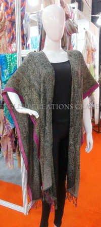Wool/Cotton Jacquard Kimono