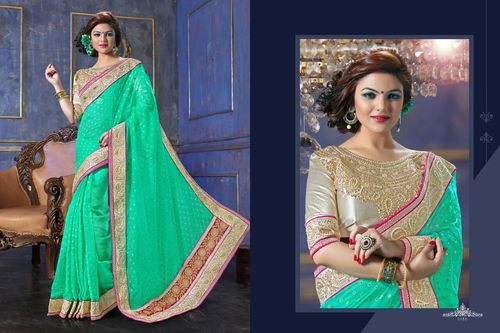 Stylish Embroidered Sarees