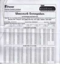 Fenner Coupling Price List