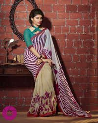 Georgette printed multicolor Saree