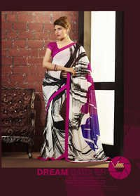 Party Wear Weave Print Saree