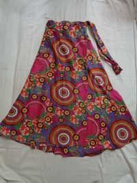 COTTON PRINTED WRAPE ROUND SKIRTS