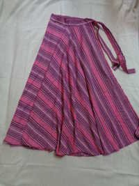 COTTON STRIPES LONG SKIRTS