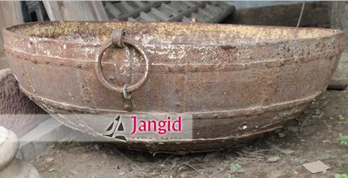 Metal Vintage Indian Big Rustic Karahi Firebowls