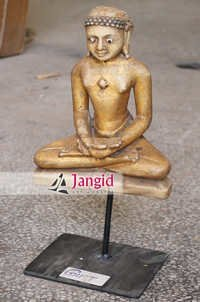 Indian Antique Wooden Buddha with Stand