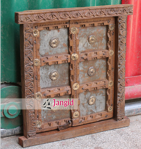 Indian Heritage Wooden Carved Window