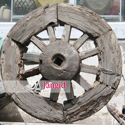 Indian Wooden Antique Decorative Wheel