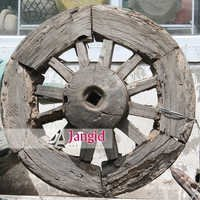 Indian Wooden Antique Decorative Wheel
